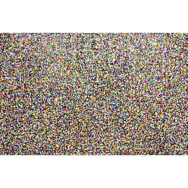 Grand tableau multicolore abstrait, horizontal – 180x117cm