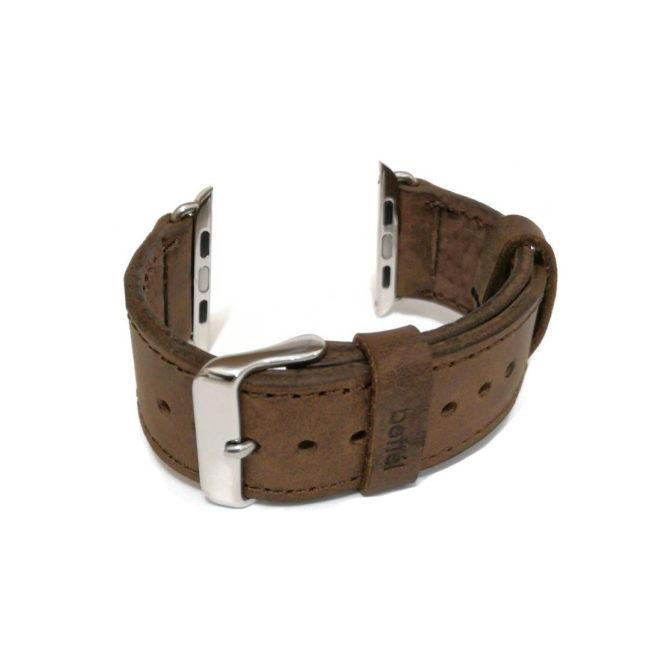 Bracelet en cuir brun pour Apple Watch largeur 38 & 40mm