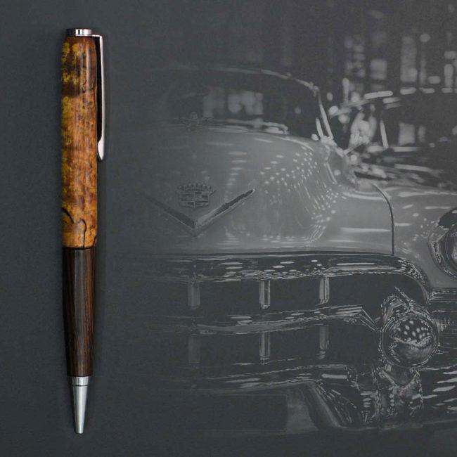 Stylo combiné en bois de fer & wenge