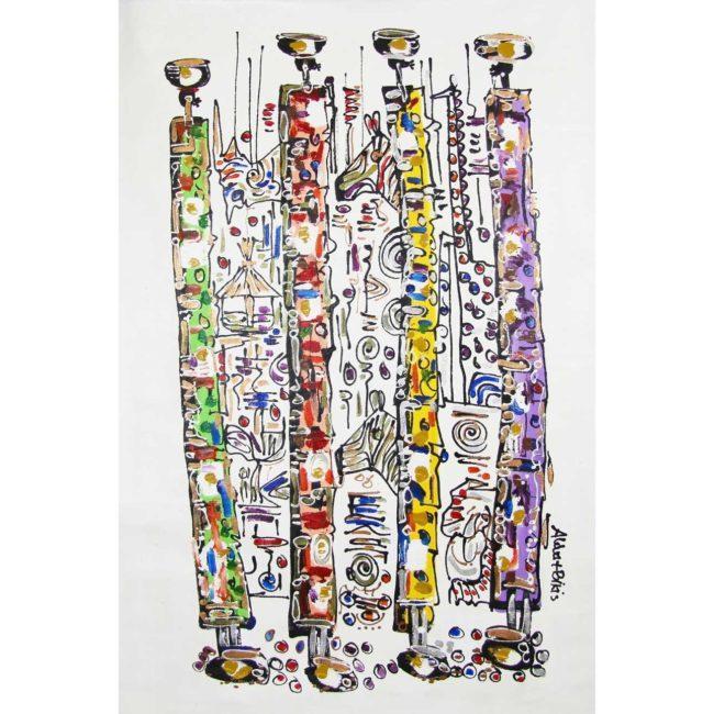 Tableau 4 femmes porteuses de cruche d'eau – 84x133cm