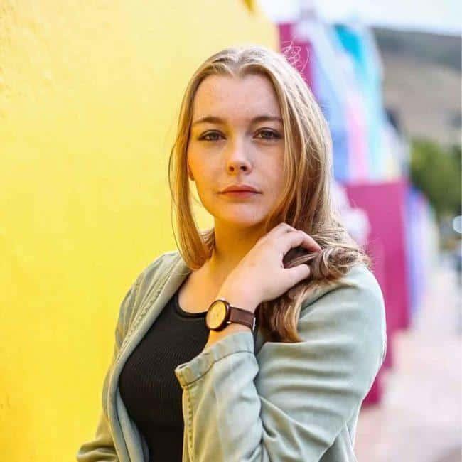 """Montre en bois """"The Acorn Beech"""" 36mm - bracelet cuir beige 8"""