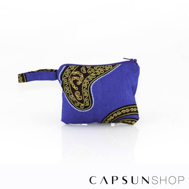 Pochette en tissu africain réalisée à la main – 9x11x3cm