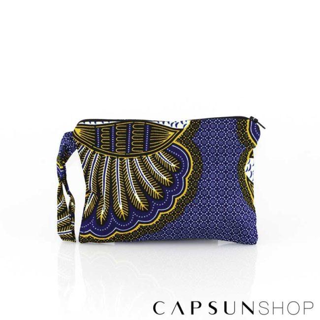 Pochette en tissu africain réalisée à la main – 13x20x5cm