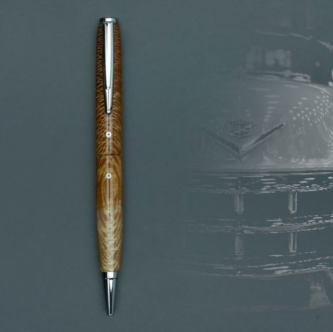 Stylo en bois de Waboom – appareil  chrome