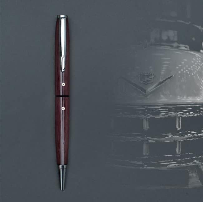 Kugelschreiber aus Amaranth oder Violettholz – Chrom-Gerät