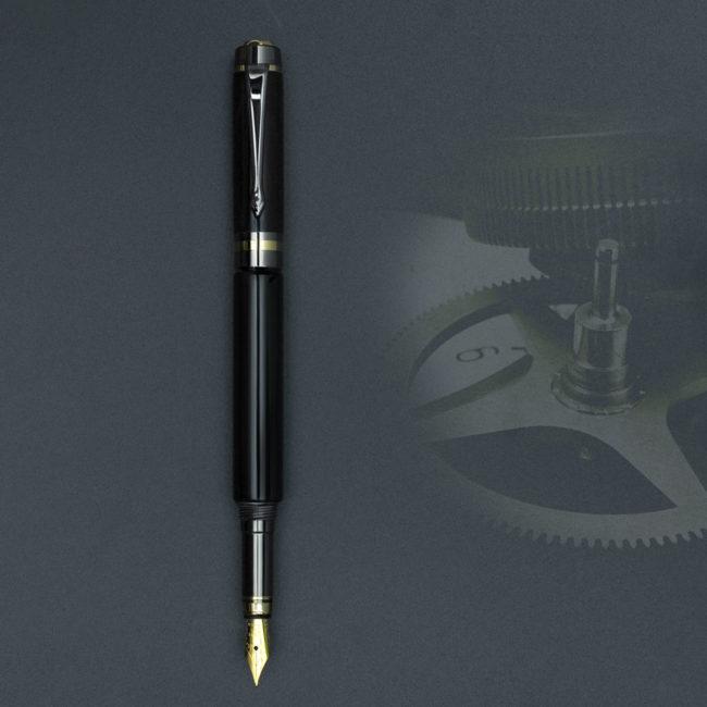 Stylo plume en bois de grenadille – appareil Or & Bronze