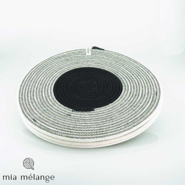 Lot de 4 sous-assiettes en coton – diamètre 30cm – collection Liquorice